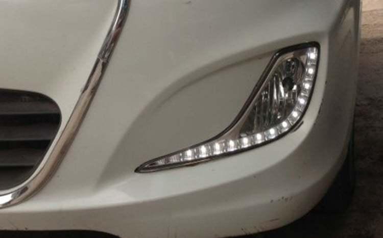 Штатные светодиодные дневные ходовые огни (ДХО), комлект. OEM DRL DRL20445 для Hyundai Solaris 2011-
