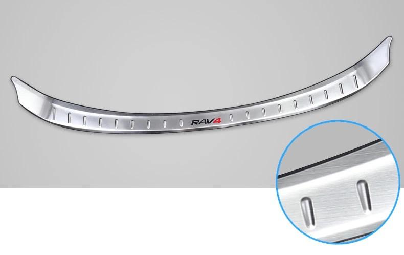Накладка на задний бампер для Toyota RAV4 (2013 - 2015) накладка на задний бампер нержавеющая сталь toyota pw178 42000 для toyota rav4 new тойота рав4 2019