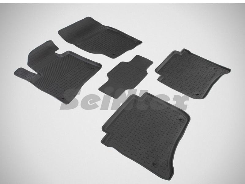 Коврики в салон Seintex резина черный 82716 Volkswagen Touareg (2G) 2010-