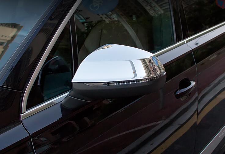 Хромированные накладки на боковые зеркала CHN для AUDI Q7 2016 -