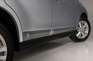 накладки декоративные на воздуховоды для mitsubishi asx 2013 2012 Накладки передних и задних дверей, нижние серые для Mitsubishi ASX (2013 - 2012)