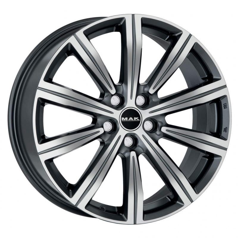 Диск колесный MAK Birmingham 8,5xR20 5x108 ET45 ЦО63,4 серый с полированной лицевой частью F8520IRQM45GD3X