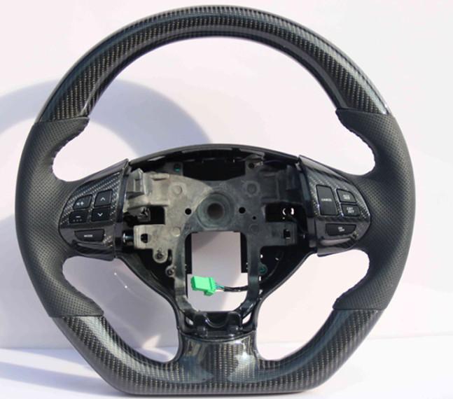 рулевое колесо в сборе углеродное волокно с кожаными вставками красный для mitsubishi outlander 3 2011 2014 Рулевое колесо в сборе (углеволокно) для Mitsubishi Outlander 3