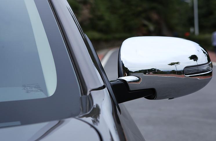 накладки на салонные ручки mitsubishi outlander 2012 Накладки на боковые зеркала, хромированные для Mitsubishi Outlander 2012 - 2018