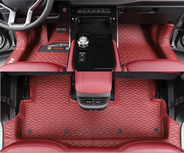 Коврики в салон (полиуретан, красные) Haval H6 2021- коврики в багажник 8 элементов полиуретан серые с черным haval h6 2021