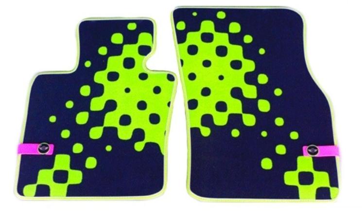 Коврики в салон передние Mini велюр зеленый 51472354170 Mini Cooper 2015- коврики в салон передние mini велюр синяя клетка 51472354172 mini cooper 2015