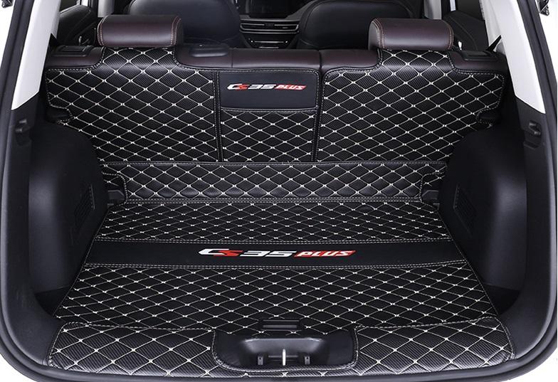 Фото - Коврик для багажника 3 элемента для Changan CS35 Plus 2019- коврик для багажника черный с красным 2 элемента для changan cs35 plus 2019