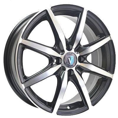 Диск колесный Venti 1 715 7xR17 5x114,3 ET39 ЦО60,1 черный с полированной лицевой частью rd832983