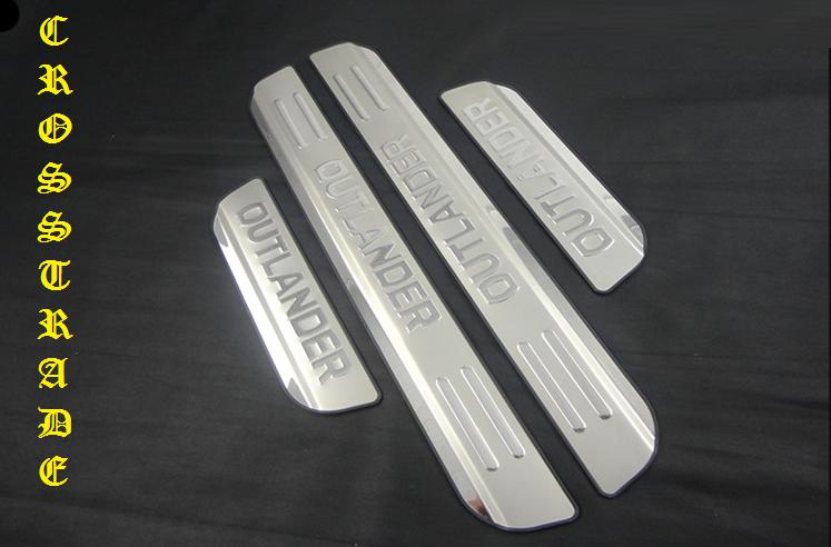 декоративные накладки замки колпачки xhn mitsubishi outlander 2012 Защитные накладки на внешние пороги CROSS CHN для Mitsubishi Outlander 2012 - 2018
