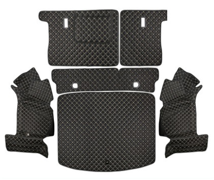 Коврики в багажник 6 элементов (полиуретан, черные) Honda CRV 2020-