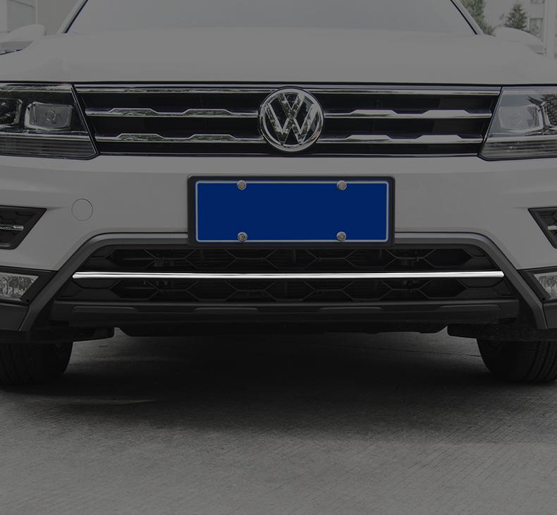 Молдинг центральный переднего бампера для Volkswagen Tiguan 2017 -