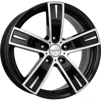 Диск колесный K&K Онегин 8xR18 5x110 ET35 ЦО65,1 черный глянцевый с полированной лицевой частью 12675