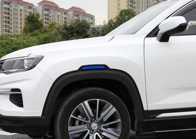 Светоотражающая наклейка на крыло (синяя) Changan CS35 Plus 2019 недорого