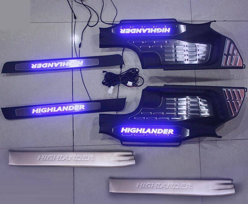 накладки на пороги с подсветкой lux Накладки на пороги с подсветкой LUX