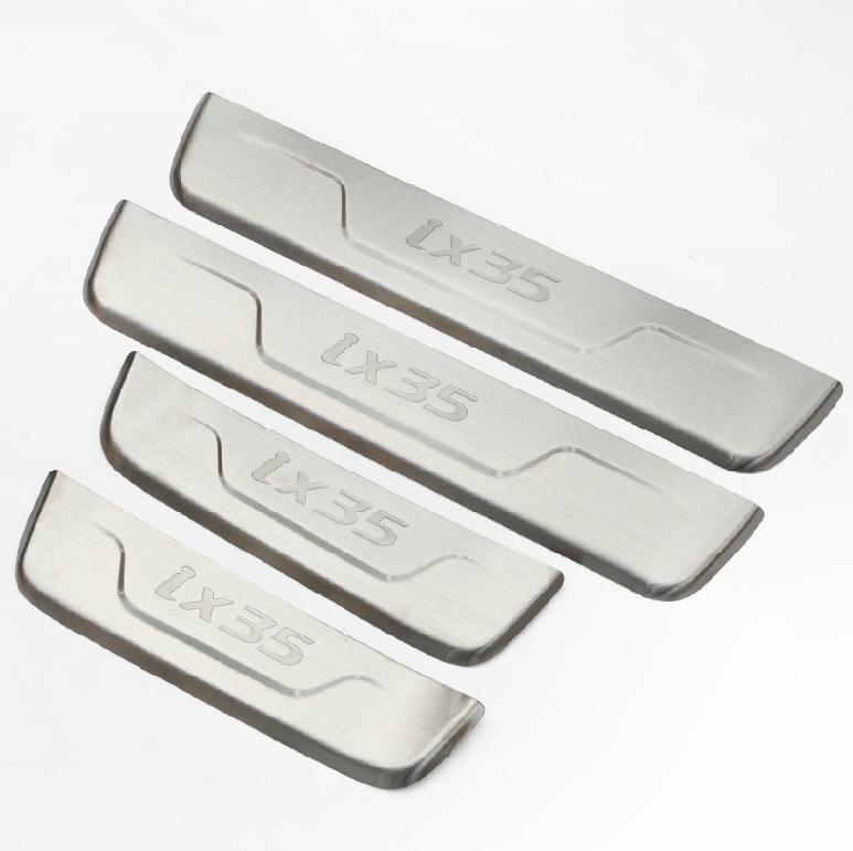 Накладки на пороги (внешние) для Hyundai ix35 (2010 - 2015) накладки на пороги внешние и внутренние для hyundai tucson 2015 по н в