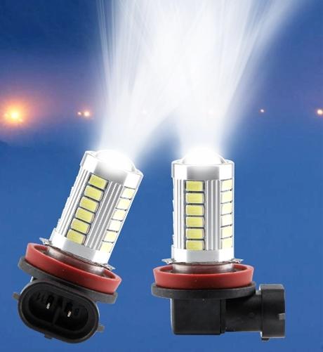 диодные лампы в передние фары led для mitsubishi outlander 3 Лампы диодные в противотуманные фары Jin Tak Mitsubishi