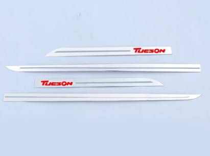 Накладки на боковые пороги (сталь) для Hyundai Tucson 2015 - накладки на пороги внешние и внутренние для hyundai tucson 2015 по н в