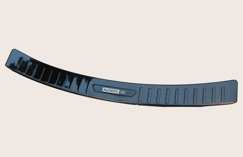 накладка на порог багажника и задний бампер нержавеющая сталь для mitsubishi outlander 3 2011 2014 Накладка на задний бампер (нержавеющая сталь) для Haval H6 2014 - 2019