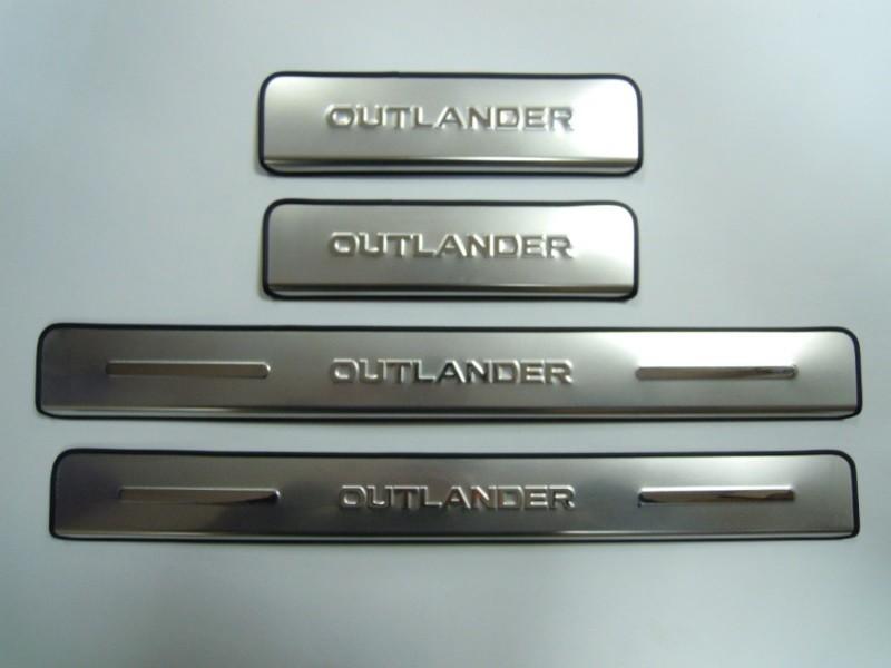 защитные накладки на внешние пороги cross chn для mitsubishi outlander 2012 2018 Накладки на пороги (внешние) Optimal для Mitsubishi Outlander 2012 - 2018