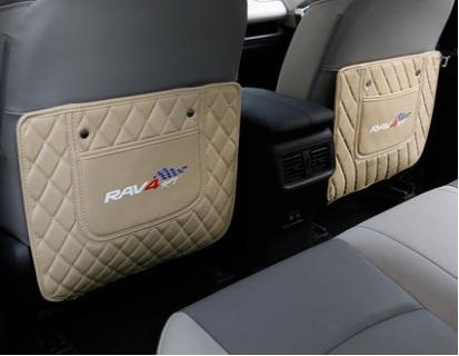 Противоударные накладки на сидение 2 элемента бежевые Toyota RAV4 2019-