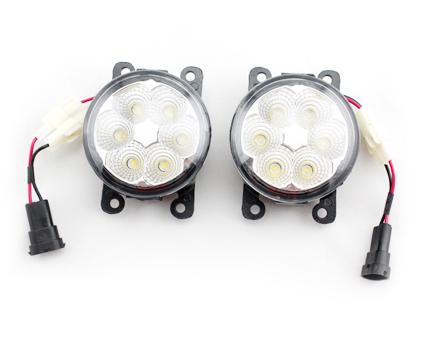 диодные лампы в передние фары led для mitsubishi outlander 3 Противотуманные диодные фары REFIT LED для Mitsubishi Outlander 2012 - 2018
