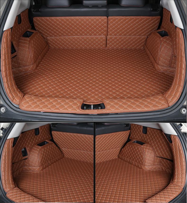 3D обшивка (коврик) в багажник кожаные Chery Tiggo 4 2019-