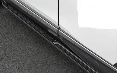 боковые подножки пороги bmw style алюминий rival d193al 5805 1 для volkswagen teramont 2017 Пороги боковые (алюминий, черный) для Honda C-RV 2017-