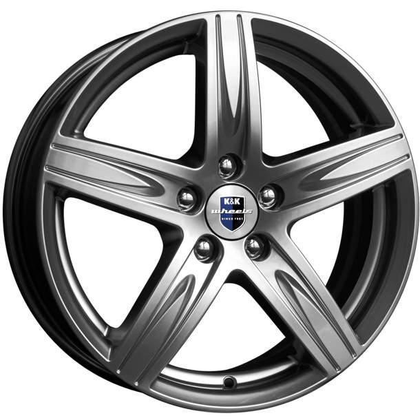 Диск колесный K&K Андорра 6xR15 5x105 ET39 ЦО56.6 серый тёмный глянцевый r72698