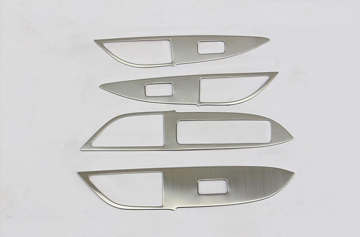 накладки на салонные ручки mitsubishi outlander 2012 Накладки на стеклоподъёмники для Mitsubishi Outlander 2012 - 2018
