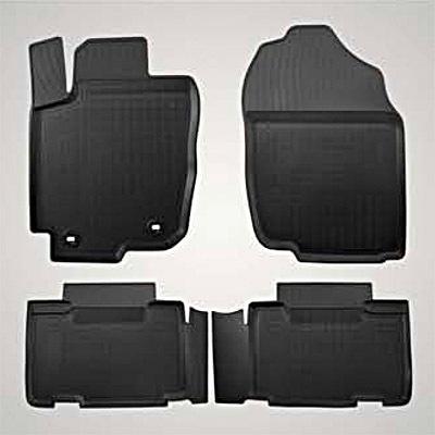 Коврики в салон Toyota резина черный PZ49LX0358RJ Toyota RAV4 (4G) CA40 2012- коврики в салон резиновые toyota pt908 03180 20 для toyota camry 2018