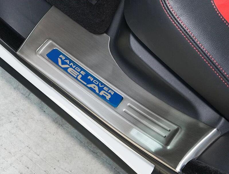Защитные накладки на внутренние пороги CHN для Range Rover Velar 2017 -