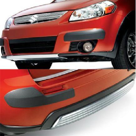 Защитные молдинги бампера для Suzuki SX4 (2007 - 2013)