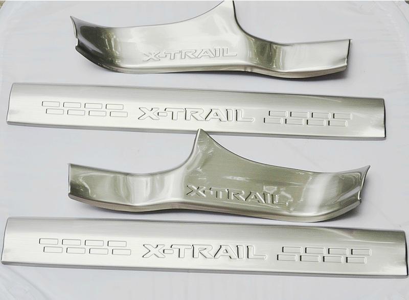 Накладки на пороги внутренние для Nissan X-Trail T32 2014 - накладки на внутренние пороги для toyota camry 2014