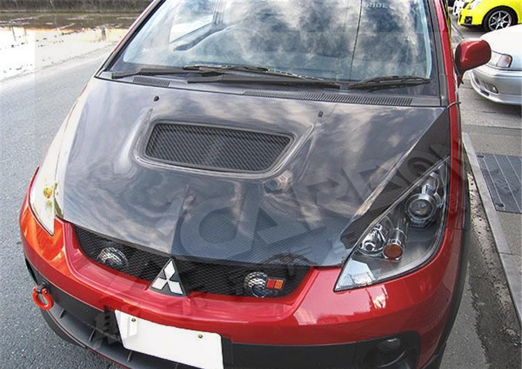 Капот карбоновый с воздухозаборником для Mitsubishi Colt