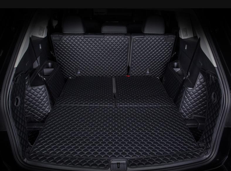 3d обшивка нижней части сидений кожаная nissan qashqai 2019 3D обшивка в багажник с нахлестом на спинки сидений Volkswagen Teramont 2017 -
