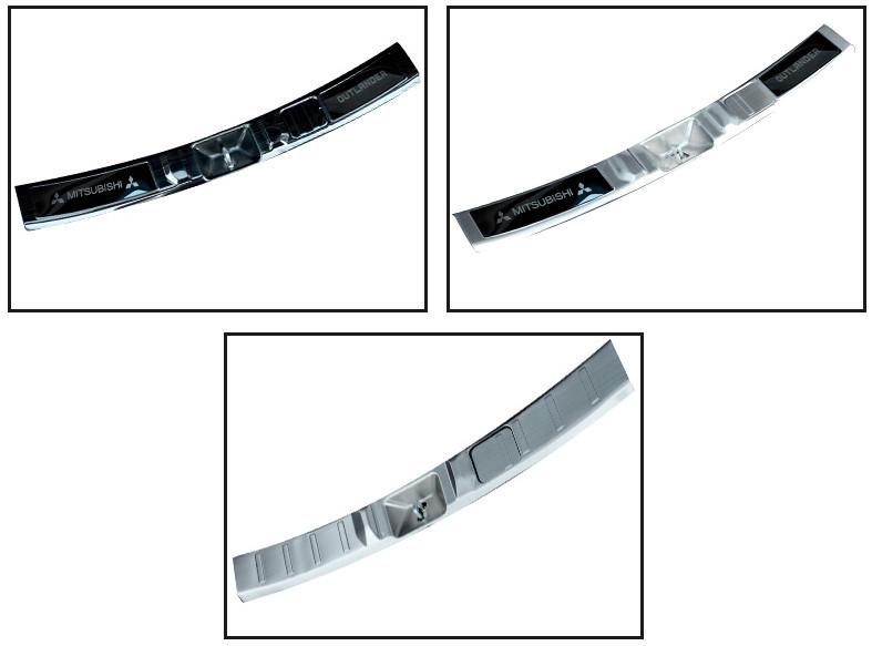 накладка на порог багажника и задний бампер нержавеющая сталь для mitsubishi outlander 3 2011 2014 Накладка на порог багажника и задний бампер (нержавеющая сталь) для Mitsubishi Outlander 3 (2011 - 2014)