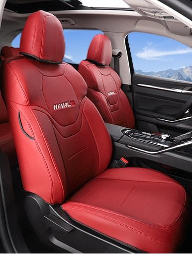 Чехлы на сидения (красные) Haval H6 2021-