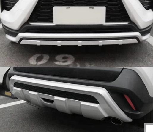 Комплект защиты бамперов серебряные Toyota RAV4 2019-