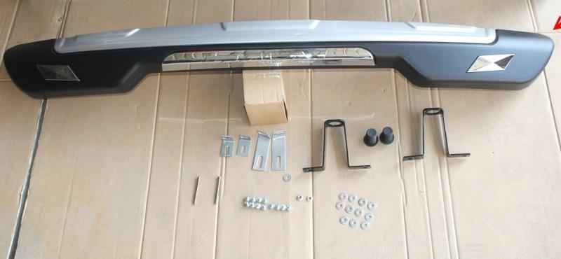 Накладка на задний бампер, обвес для Toyota RAV4 (2013 - 2015) накладка на задний бампер нержавеющая сталь toyota pw178 42000 для toyota rav4 new тойота рав4 2019