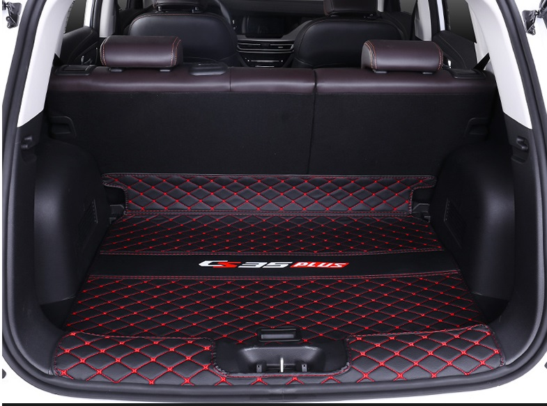 Фото - Коврик для багажника (черный с красным) 2 элемента для Changan CS35 Plus 2019- коврик для багажника черный с красным 2 элемента для changan cs35 plus 2019