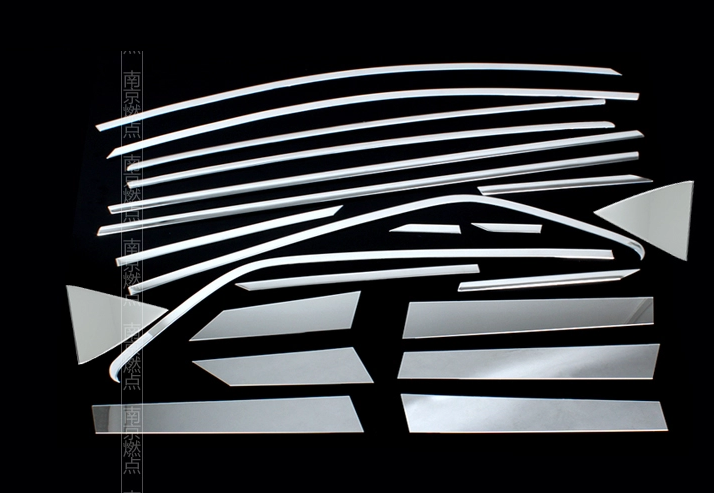 оплетка руля для ford ecosport 2013 2018 Хромированная подоконная линия для Ford EcoSport (2013 - 2018)