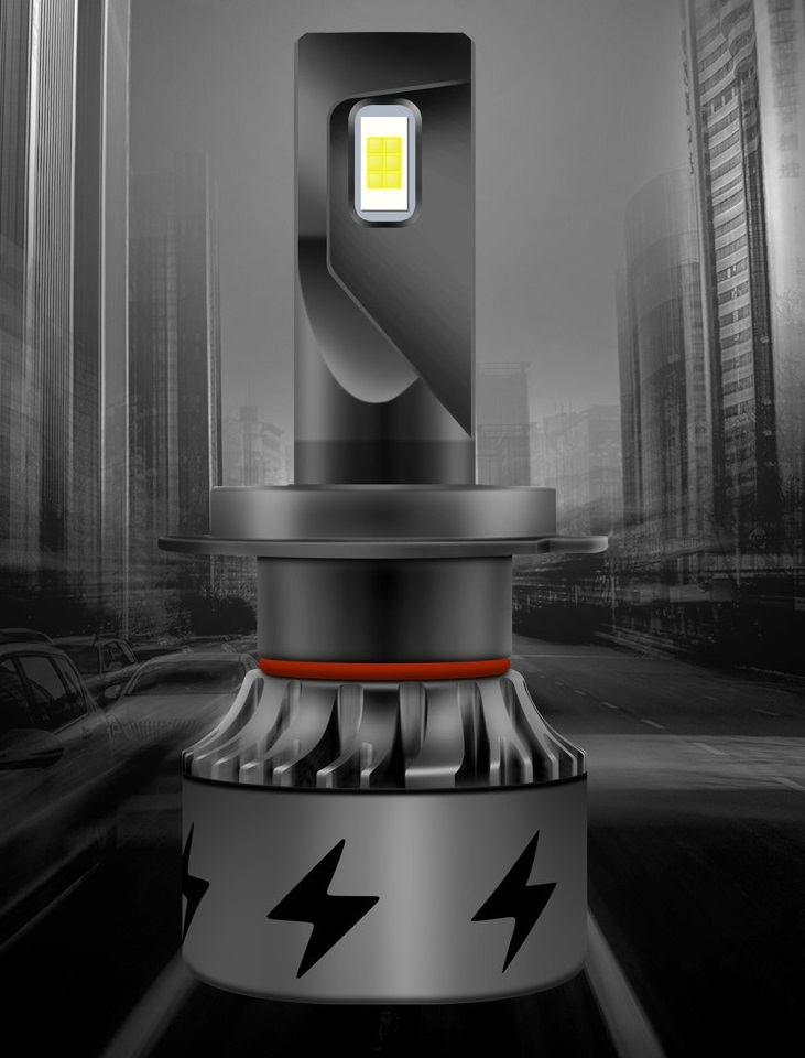Комплект светодиодных лампочек в передние фары для Chery Tiggo 4 (Чери Тигго 4)