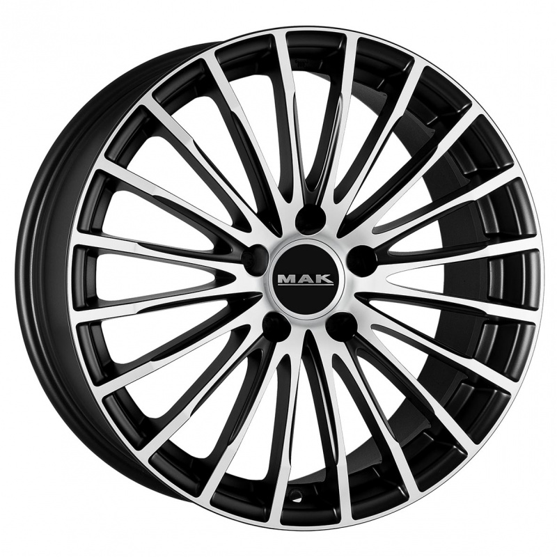 Диск колесный MAK Starlight 9xR18 5x112 ET25 ЦО66,6 черный матовый с полированной лицевой частью F9080FAIB25WSX