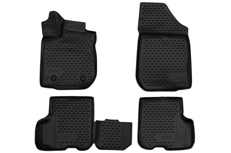 Коврики 3D в салон (черный полиуретан) Format FORMAT.3D.41.31.210k Renault Logan 2014-
