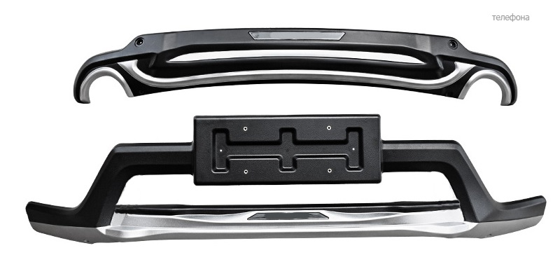 Защита переднего и заднего бампера для Honda C-RV 2017-