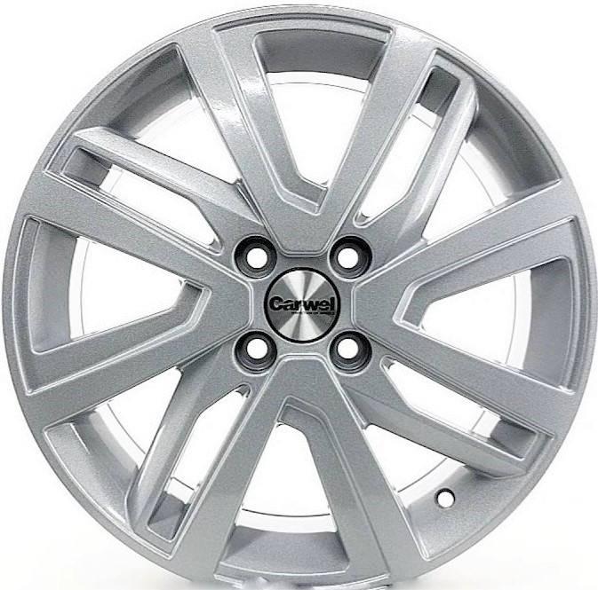 Диск колесный Carwel Таймыр 1609 6xR16 4x100 ET50 ЦО60,1 серебристый 32797