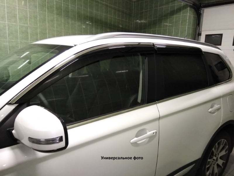 Дефлекторы боковых окон с нерж. молдингом, OEM Style OEM-Tuning BTYHL1523 Toyota Highlander 2014 -