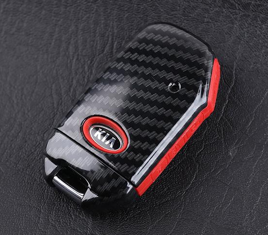 Брелок для ключей с крючком (черный карбон) Kia Sportage III 2010-2015