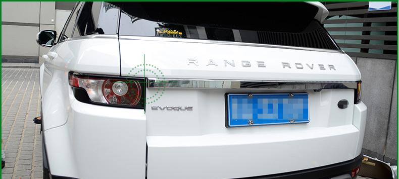Накладка на дверь багажника для Land Rover Range Rover Evoque 2015 - защита картера и кпп алюминиевая rival для land rover range rover evoque 2011