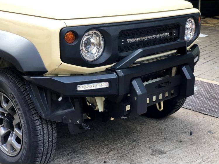 Силовой бампер PErKs CHN для Suzuki Jimny NEW 2019 - комплект противотуманных светодиодных фар в передний бампер osram led nsw osr для suzuki jimny new 2019